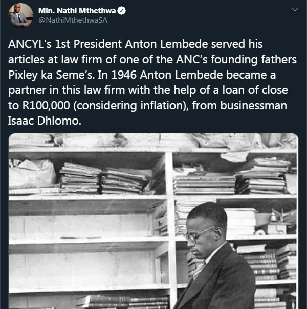 Minister Nathi Mthethwa tweets a warning to AKA during his beef with Sizwe Dhlomo