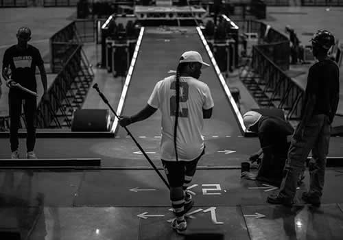 Cassper Nyovest rehearsing for Fill Up The Dome